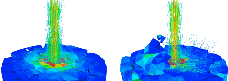 Orchyd Rock breaking simulation